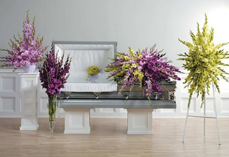 Casket Set Lavender Gladiolus/CLICK FOR PRICE/ BUY SEPARATE