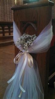Pew Decoration/Tulle,Wax