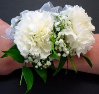 Corsage/Carnations,Baby Breath