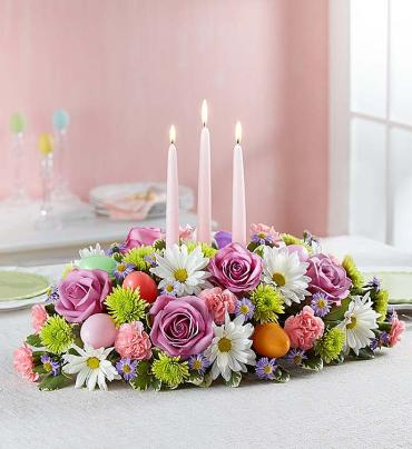 Easter Center Piece/Roses,Buttons,Daisy,Monte,Carns,eggs