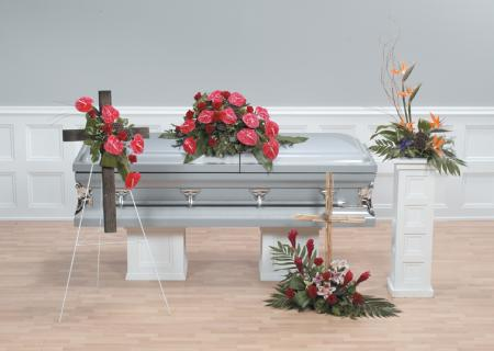Casket Set/Anthurium,Birds/CLICK FOR PRICE/ BUY SEPARATE
