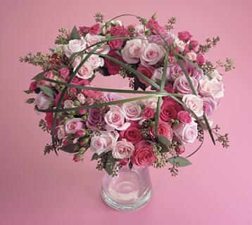 Pink & Magenta Rose Wreath