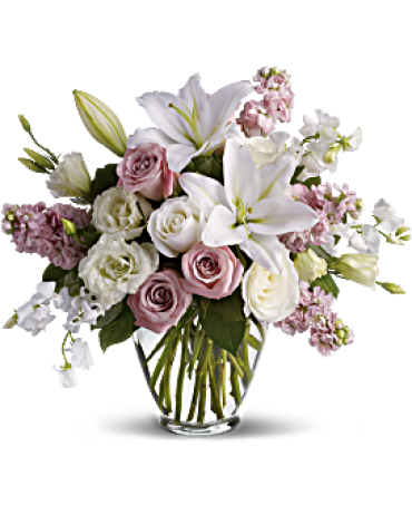 Isn\'t It Beautiful/Lisianthus,Roses,Lilies,Sweet Pea,Stock
