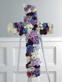 Jewel Toned Cross /Roses,Carns,Glads,Stock,Hydrangea