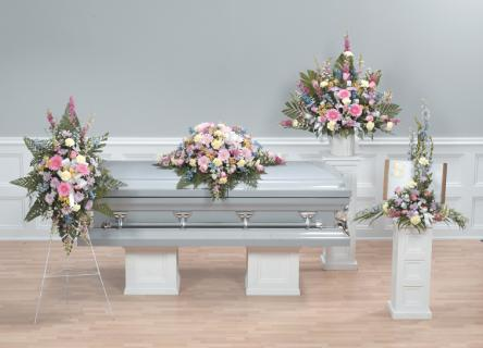 Casket Set/Delph,Gerbs,Snaps,Roses/BUY SEPARATE/ CLICK FOR PRICE