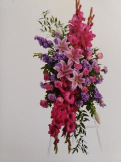 Bountiful Spray/Roses,Lilly,Gladiola,Carns,Stock