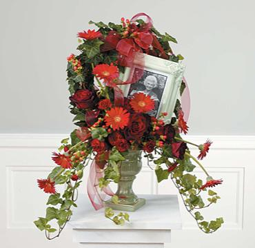 Ivy & Floral Wreath/Gerbs,Rose