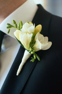 Boutonniere/Freesia/Colors are OPtional