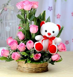 Sweet Rose And Bear