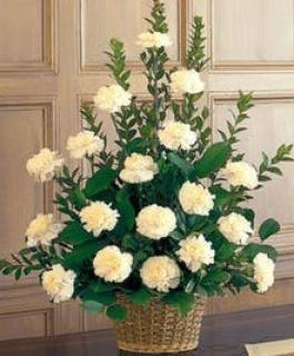 Funeral Basket/Carnations