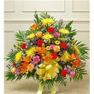 Funeral Basket/Carns,Fuji,Roses,Lilly,Monte