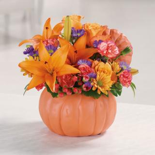 Pretty Pumpkin Petals/Lilly,Carns,Roses,Monte,Daisy