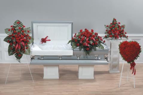 Casket Set All Carnation/CLICK FOR PRICE/ BUY SEPARATE